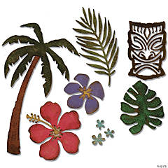Sizzix Thinlits Dies By Tim Holtz 8/Pkg-Tropical