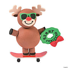 Skateboarding Reindeer Craft Kit