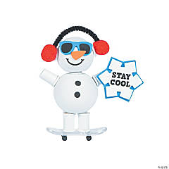 Skateboarding Snowman Craft Kit
