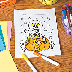 Skeleton Free Printable Coloring Page
