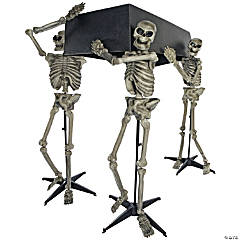 Skeleton Pallbearers with Coffin