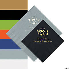 Skeleton Personalized Beverage and Luncheon Napkins