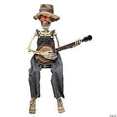 Skeleton Playing Banjo Animated Halloween Decoration