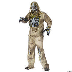 Skeleton Zombie Costume for Men