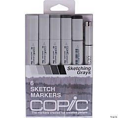 Sketch Markers 5/Pkg W/Multiliner Pen
