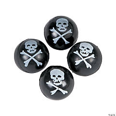 Skull & Crossbones Bouncy Balls