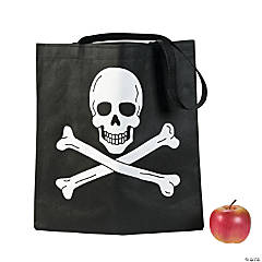 Skull & Crossbones Trick-Or-Treat Totes