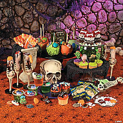 Skulls and Bones Halloween Candy Buffet Idea