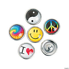 Small 70's Design Snap Beads - 12mm