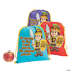 Small Armor of God Drawstring Bags