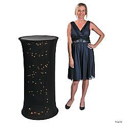 Small Black Light-Up Fabric Column