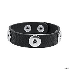 Small Black Snap Bracelets