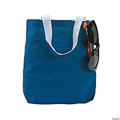 Small Blue Canvas Tote Bags