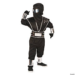 Small Boy's Silver Mirror Ninja Costume