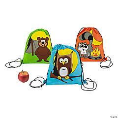 Small Camp Adventure Drawstring Bags