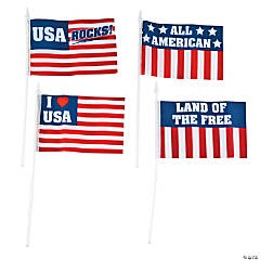 Small Cloth Patriotic Sayings Flags