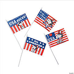 Small Cloth Peanuts® Patriotic Flags