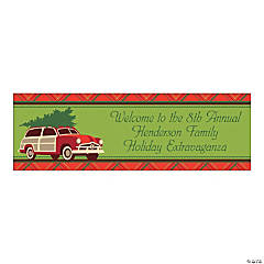Small Cozy Christmas Personalized Banner
