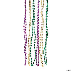 Small Diamond-Shaped Mardi Gras Beads Assortment