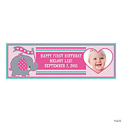 Small Elephant Custom Photo Banner