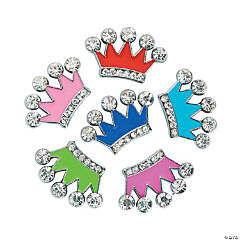 Small Enamel Crown Slide Charms
