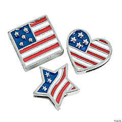 Small Enamel Patriotic Charms