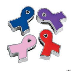 Small Enamel Ribbon Slide Charms