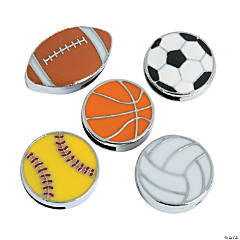 Small Enamel Sports Ball Assorted Slide Charms