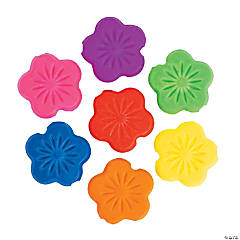 Small Flower Rubber-Coated Beads - 14mm
