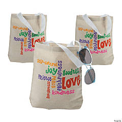 Small Fruit of the Spirit Tote Bags