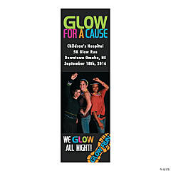 Small Glow Run Custom Photo Vertical Banner