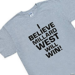 Small Grey Personalized Team Spirit T-Shirt - I Believe...