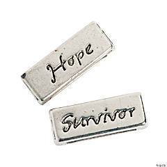 Small Hope & Survivor Slide Charms - 10mm