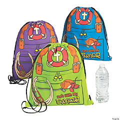 Small Island VBS Drawstring Bags