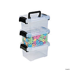 Small Locking Storage Bins with Lids