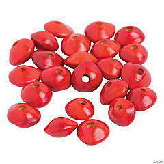 Small Natural-Shaped Red Beads - 7mm