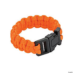 Small Orange Paracord Bracelets