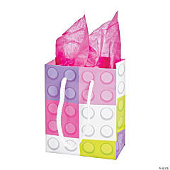 Small Pastel Color Brick Gift Bags