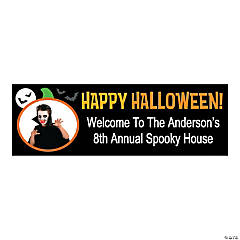 Small Personalized Happy Halloween Banner