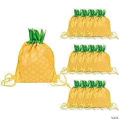 Small Pineapple Drawstring Bags