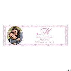 Small Pink Custom Photo Wedding Banner