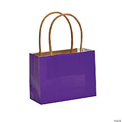 Small Purple Kraft Paper Gift Bags