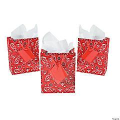 Small Red Bandana Gift Bags