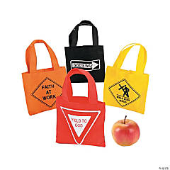 Small Religious Road Sign Totes