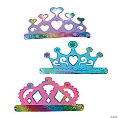 Small Sparkle Princess Magic Color Scratch Crowns