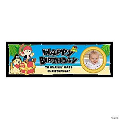 Small 1st Birthday First Mate Custom Photo Banner