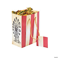 Small Vintage Circus Gift Bags with Tags