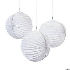 Small White Hanging Paper Lanterns