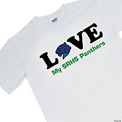 Small White Team Spirit Shirt - LOVE