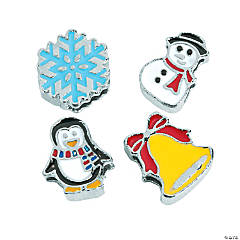 Small Winter Slide Charms